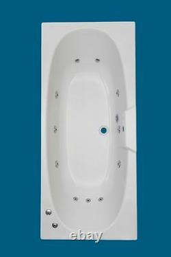 11 CHROME JET DOUBLE ENDED WHIRLPOOL -SPA-BATH -1700 x 750mm
