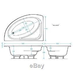 11 Jet Trojan Orlando Lh Corner Whirlpool Bath Including Bath Panel