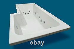 12 JET 1600mm L SHAPED LH SHOWER WHIRLPOOL SPA BATH