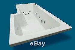 12 JET 1800mm L SHAPED LH SHOWER WHIRLPOOL SPA BATH