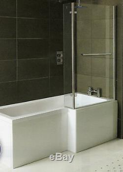 12 JET 1800mm L SHAPED RH SHOWER WHIRLPOOL BATH