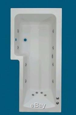 12 JET OCEANA 1600mm L SHAPED L H SHOWER WHIRLPOOL SPA BATH