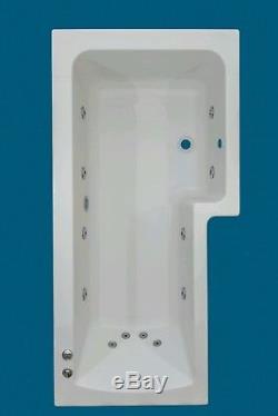 12 JET OCEANA 1600mm L SHAPED RH SHOWER WHIRLPOOL SPA BATH