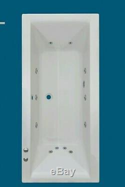 12 JET TROJAN ELITE 1800 X 800mm DOUBLE ENDED WHIRLPOOL SPA BATH