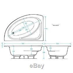 12 Jet Trojan Orlando Rh Corner Whirlpool Spa Bath Including Panel