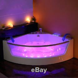 1300 Corner Whirlpool Shower Spa Jacuzzis Massage Corner 2person Double Bathtub