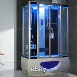 1350mm Steam Shower Jacuzzis Bath Corner Cabin Cubicle Enclosure Room