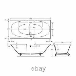 14 CHROME JET TROJAN ALGARVE D/E WHIRLPOOL -SPA-BATH -1700 x 750mm