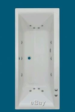 14 JET TROJANCAST ELITE LARGE 1800mm DOUBLE ENDED WHIRLPOOL SPA BATH