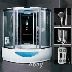 1500MM Luxury Hydro Corner Steam Shower Cabin Cubicle Whirlpool Jacuzzi Bathtub