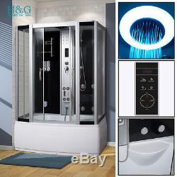 1500Steam Shower Bath No Whirlpool Jacuzzis Corner Cabin Cubicle Enclosure Room