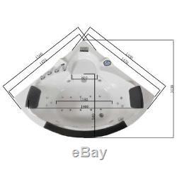 1500mm 20 Jet Whirlpool Bath Shower Air Spa Jacuzzi Massage Corner 2 person tub