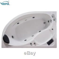 1500mm whirlpool Left Hand Spa Jacuzzis Massage One Person Corner Bathtub 1510L