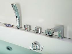 1690mm 22 JET Whirlpool Bath Shower Spa Jacuzzi Straight 2 person Double Bathtub