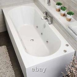 1700 x 700mm Whirlpool Bath Straight Double Ended Standard 6 Jets Jacuzzi Style