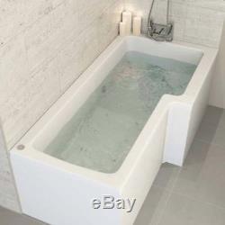 1700mm L Shape 8 Jet Whirlpool Bath Shower Jacuzzi Spa Massage Right Hand