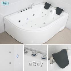 1800 Whirlpool Jacuzzis Massage Bath Shower Spa Corner 2 person Bathtub NO5153R