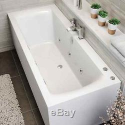 1800 x 800mm Whirlpool Bath Straight Double Ended Square 6 Jets Jacuzzi Style