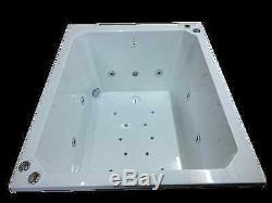 20 Jet Oriental Deep Soaking Japanese Whirlpool Bath 1200 x 1000 mm Jacuzzi Spa