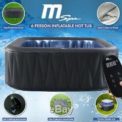 2018 MSpa D-TE06 Tekapo 4+2 Inflatable Hot Tub Jacuzzi Spa Square with Bladder