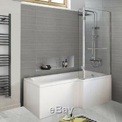2019 New L Shaped Bathtub Jacuzzis Shower SPA Bath With Shower Screen