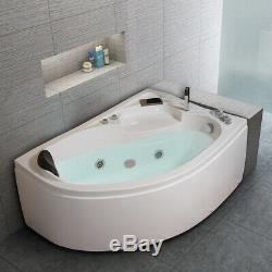 2019 New Luxury Whirlpool Corner Bath SPA Massage Right Hand Bathtub 15001000mm