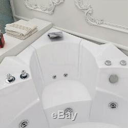 2019 New Modern Whirlpool Corner Bathtub Jacuzzis Massage Jets 2 Person 1520mm