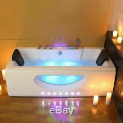 2019 New Spa Jacuzzi Straight Whirlpool Bath 2 person Double End Massage Bathtub