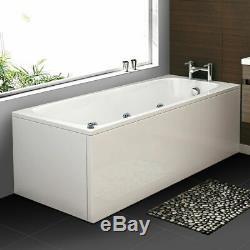 2019 New Whirlpool Luxury LED White Rectangle Bath 11 Massage Jets 1700700mm