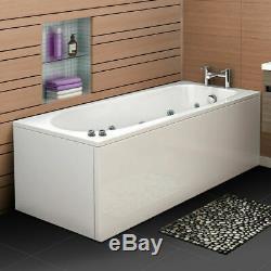 2019 New Whirlpool Luxury Straight Bath 11 Massage Jets White Acrylic 1700700mm
