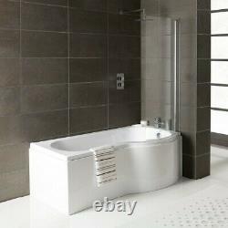 2020 RH Oceania 12 Jet P Shape Whirlpool Jacuzzi Shower Bath with Screen & Panel