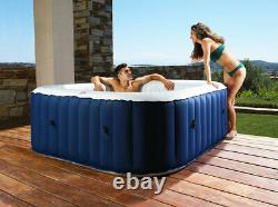 2021 MSpa Lite 6-Person (4+2) Inflatable Hot Tub Jacuzzi Bubble Spa Square
