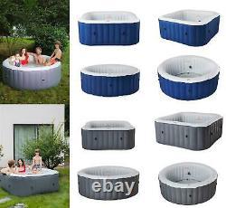 2021 Mspa Lite 4/6 Bather Round/Square Inflatable Hot Tub Spa Jacuzzi Bubble UVC