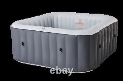 2021 Mspa Lite Square 4 Bather Portable Inflatable Hot Tub Spa Jacuzzi Bubble UK