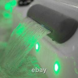 3 Person Whirlpool Bath Jacuzzi LED Light Computer Control Halloween Spa outdoor