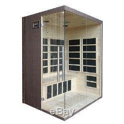 3 (three) Person Indoor Infrared Sauna With Carbon Heaters And Free Delivery