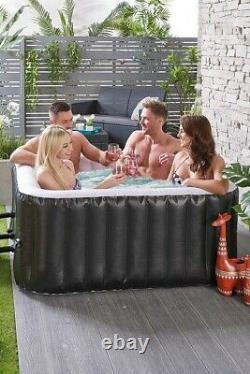 4 Person Inflatable Aqua Spa Hot Tub Jacuzzi 780L Square Hottub Garden Party 537