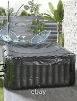 4 Person Inflatable Jacuzzi Hot Tub Spa Bubbles Square Free Delivery