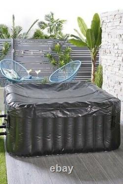 4 Person Inflatable Jacuzzi Hot Tub Spa Square COLLECTION CW1