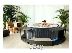 6 Bathers Mspa Aurora Inflatable Hot Tub Spa Jacuzzi Home Holiday Garden Fun