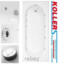 6 jet 8 Jet Whirlpool Spa Bath Tub Single Ended Round Choice Of Sizes White Roun