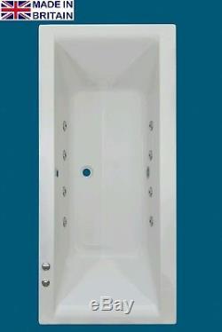 8 JET TROJAN SOLARNA 1700 X 750mm DOUBLE ENDED WHIRLPOOL BATH