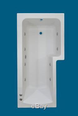 8 JET TROJAN SOLARNA L SHAPED RH SHOWER WHIRLPOOL SPA BATH