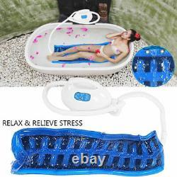 Air Bubble Bath Tub Ozone Sterilization Spa Massage Mat + Hose Heat Wind