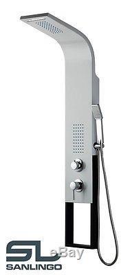 Alluminio Colonna doccia Cascata Argento Ottica Acier Inox Nero Sanlingo
