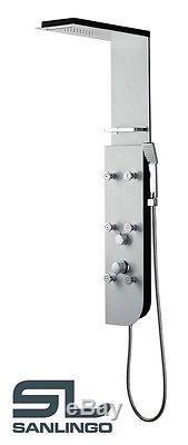 Alluminio Colonna doccia a pioggia Cascata Bianco Sanlingo
