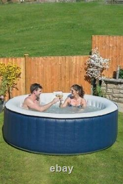 Aqua Spa 6 Seater Round Hot Tub Bubble Jacuzzi Summer Garden Pool + Cover 1000L