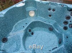 Arctic Spa Yukon Hot Tub Jacuzzi 7 seats 2 pumps Air Blower Music Cedar Cabinet