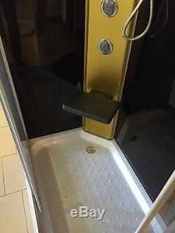 BOX DOCCIA CABINA BAGNO IDROMASSAGGIO ANGOLARE CROMOTERAPIA 100x70 CM Portofino