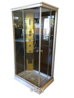 BOX DOCCIA CABINA BAGNO Portofino IDROMASSAGGIO ANGOLARE CROMOTERAPIA 100 x 70cm